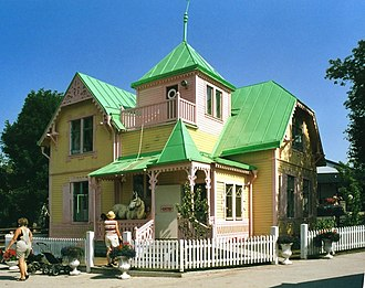 Pippi Longstocking - Villa Villekulla, the house used for the film and series, located on Gotland in the town of Visby