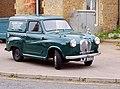 Vintage Austin van outside the 'Railway Arms' at Downham Market station - geograph.org.uk - 1376486.jpg