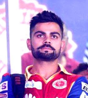 Virat Kohli at the 2015 IPL opening ceremony (cropped)