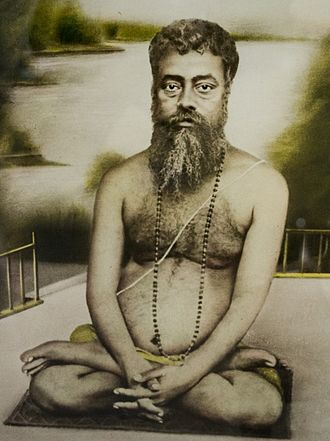 Vishuddhananda Paramahansa - Vishuddhananda Paramahamsa in Lotus position