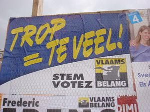 English: Vlaams Belang election poster in Uccl...