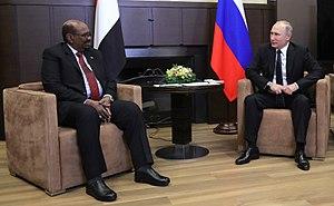 Russia–Sudan relations - Vladimir Putin and Omar al-Bashir, 2017