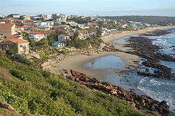 Modern day view of Vleesbaai beach from Hoekbaai