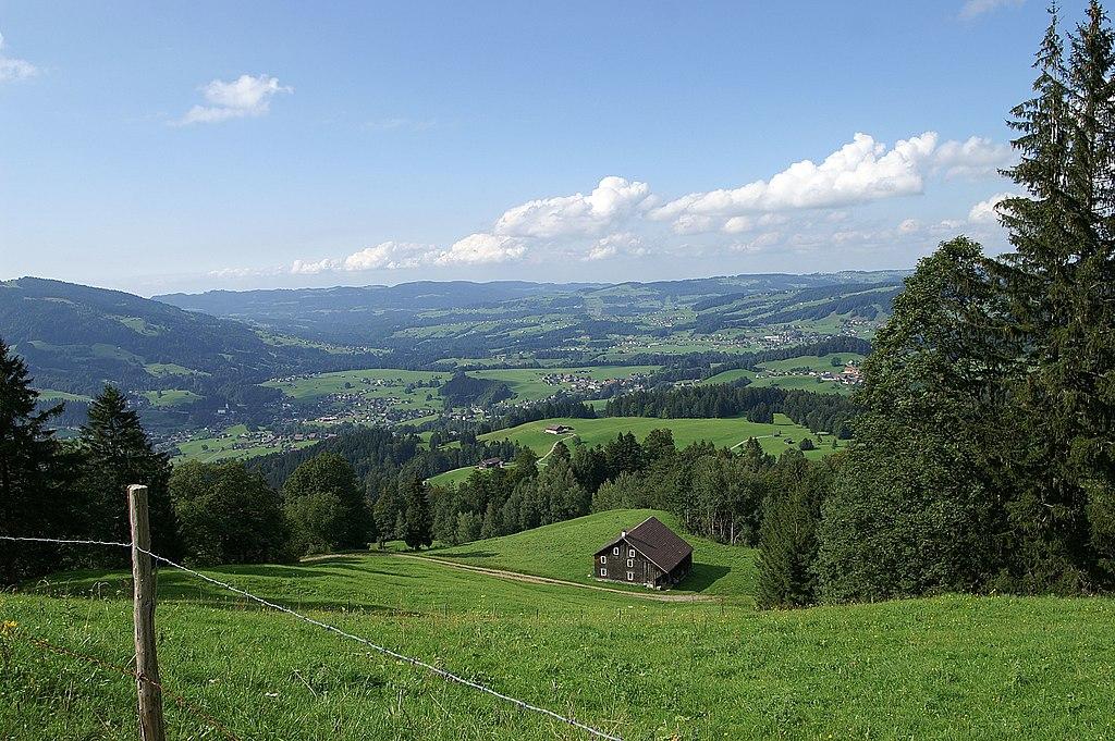 Vorarlberg: Vorderer Bregenzerwald.Vorderwald Alpe Gerach
