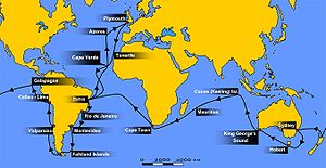 Second voyage of HMS Beagle - The voyage of the Beagle