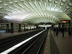 Intersection of coffered concrete ceiling vaults at Metro Center (opened 1976) a major transfer station & Washington Metro - Wikipedia azcodes.com