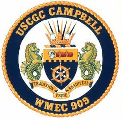 Coat of Arms of the USCGC Campbell WMEC-909 from the Army Institute of Heraldry