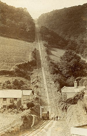 West Somerset Mineral Railway - The inclined plane. Photo by Herbert Hole