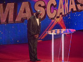 Máscaras in een WWE Hall of Fame-show op 31 maart 2012