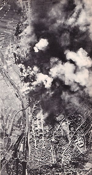 Schweinfurt–Regensburg mission - United States Army Air Forces strategic bombing raid on the ball bearing works at Schweinfurt, Germany.