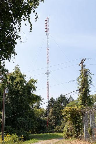 WWVU-FM - WWVU-FM transmission tower and antenna