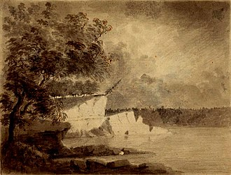 Wabash River - A scene along the Wabash River, sketched in 1778 by Lt Governor Henry Hamilton en route to recapture Vincennes, Indiana