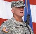 Wade Dennis, commander Joint Detention Group, Guantanamo, addresses troops.jpg
