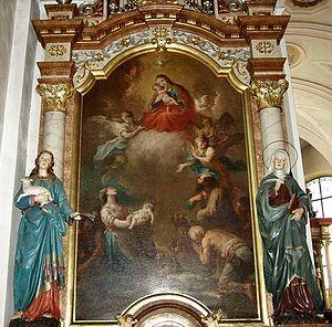 Martin Johann Schmidt - The Virgin (1755), main altar of the parish church of Waizenkirchen (Upper Austria)