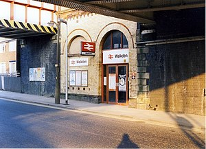 Walkden railway station - The entrance to Walkden railway station