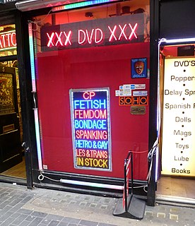 Sex shop Shop that sells products related to sexual or erotic entertainment