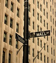 Not just a metaphor, Wall Street has a sign posted.