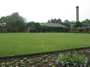 Burleigh Hall - The walled garden, now part of the Loughborough University campus, once formed part of the Burleigh Estate