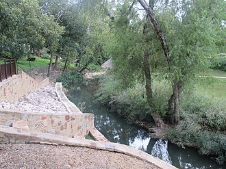 Seguin, Texas - Walnut Springs Park on Walnut Branch, a small tributary of the Guadalupe River, was first constructed by members of the Civilian Conservation Corps.