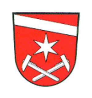 Hammer and pick - Image: Wappen Töpen