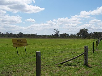 Amberley, Queensland - No trespassing on the Amberley Air Base, 2010