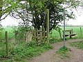 Wendover Arm, A Seat on the Towpath and a Footpath Junction - geograph.org.uk - 1265464.jpg