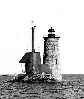 Whaleback Light - Image: Whaleback Lighthouse Maine c 1950