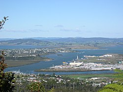 Whangārei Harbour from Mt Parihaka, with Onerahi, Sherwood Rise, Parahaki and Port Whangārei in view