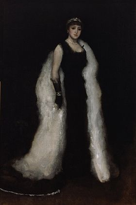 James Abbott McNeill Whistler. Arrangement in Black, No. 5 (Portrait of Lady Meux)