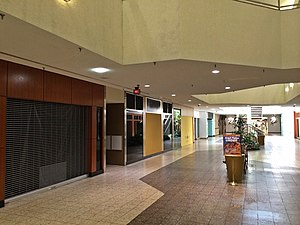 White Flint Mall - Shuttered storefronts at White Flint Mall