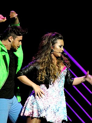 "English: Demi Lovato performing ""Who's Th..."