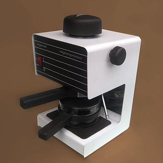 Espresso machine - A steam coffee machine
