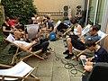Wikidata-Workshop im Innenhof des Verschwörhaus Ulm.jpg