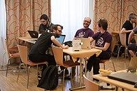 Wikimedia Hackathon Vienna 2017-05-19 Hacking Blunzn 004.jpg