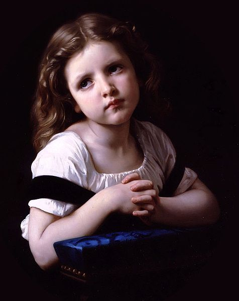 File:William-Adolphe Bouguereau (1825-1905) - The Prayer (1865) (cropped).jpg