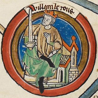 Arnulf de Montgomery - William Rufus as depicted on folio 5r of British Library Royal MS 14 B VI.