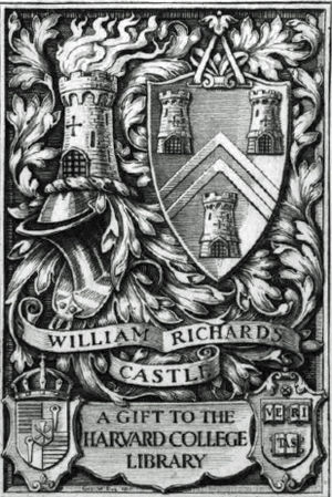 William Richards Castle - Bookplate for Harvard collection