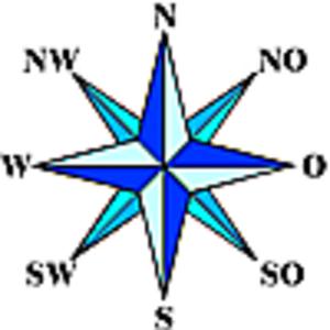 Küblis - Image: Windrose klein