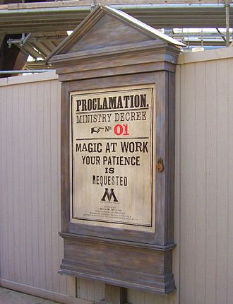 The Wizarding World of Harry Potter (Universal Orlando Resort) - Themed billboards were located around the Wizarding World during the two-year construction period.
