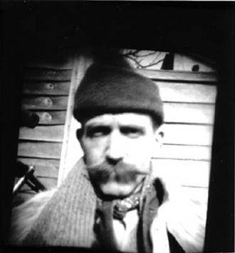 Billy Childish - Pinhole photograph of Billy Childish from 2003