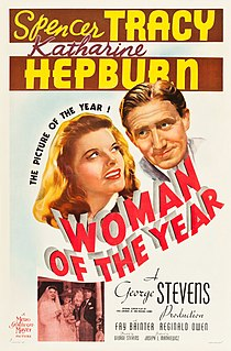 <i>Woman of the Year</i> 1942 film by George Stevens