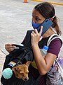 Woman on Phone with Doggie - Valladolid - Yucaan - Mexico.jpg