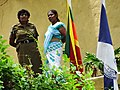 Women with Flags - Fort District - Galle - Sri Lanka (14047099784).jpg