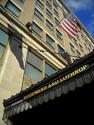 Woodward & Lothrop - Image: Woodward & Lothrop sign Washington, DC