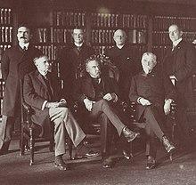 I sette membri della commissione istituita da Roosevelt per trovare una soluzione allo sciopero