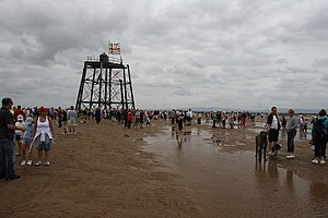 Wyre Light (Fleetwood) - The derelict Wyre Light in 2006