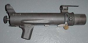 XM148 grenade launcher - The XM148 grenade launcher.