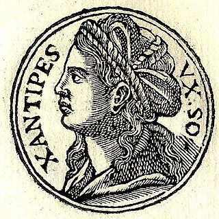 Xanthippe ancient Athenian, the wife of Socrates and mother of their three sons