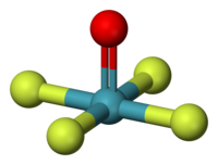 Ball-and-stick model of xenon oxytetrafluoride