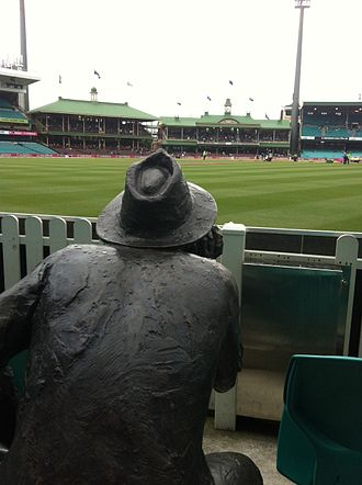 Yabba - Yabba's view across the pitch of the Sydney Cricket Ground